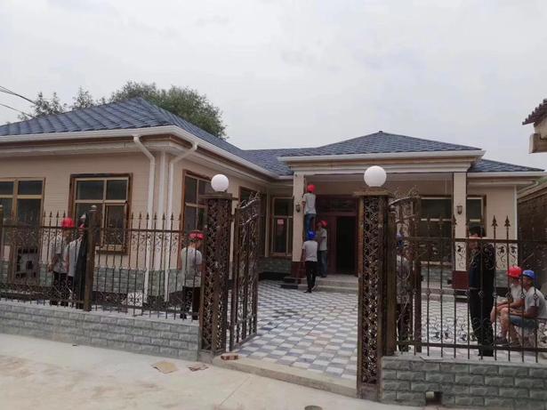 18万75平方农村轻钢别墅精装修,可以拎包入住